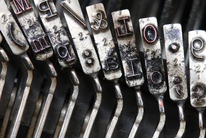 Schreibmaschine Lettertypen