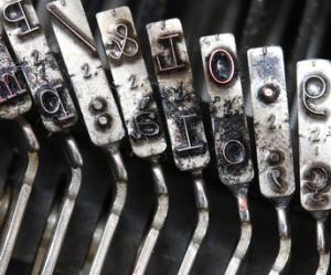 Schreibmaschine Lettertypen - Vorgänger der heutigen Tastatur