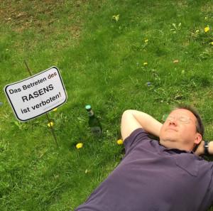 Betreten des Rasens verboten