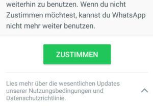 WhatsApp Zustimmen