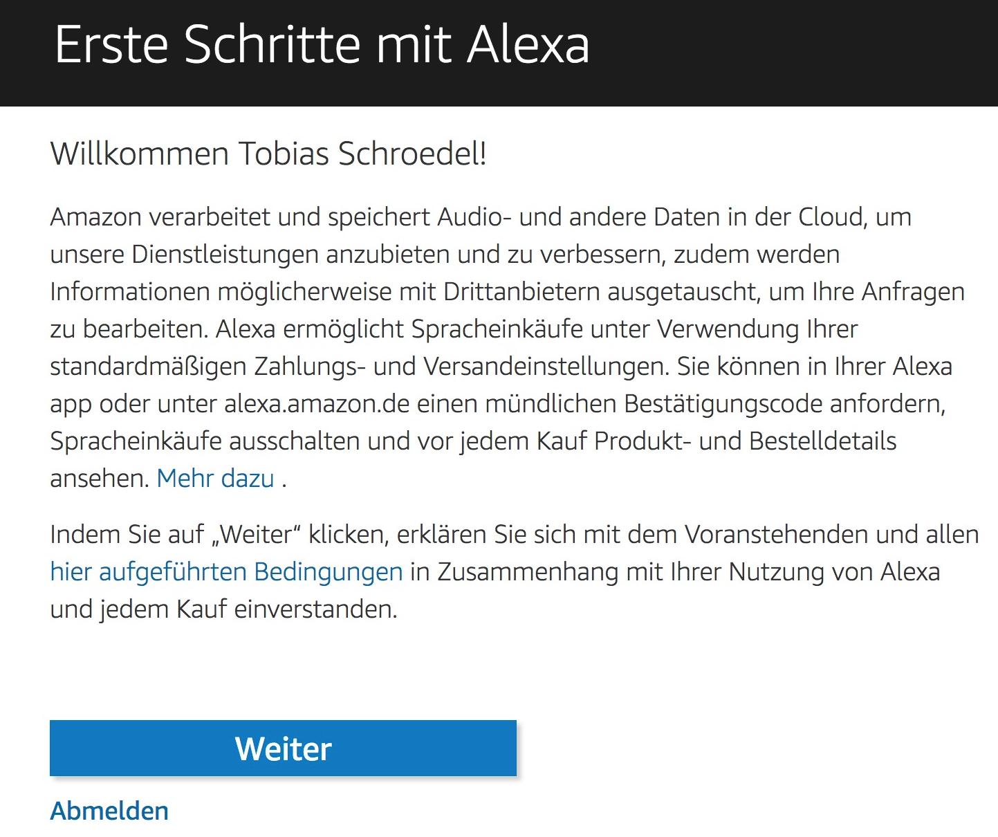 Alexa Sprachsteuerung Datenschutz