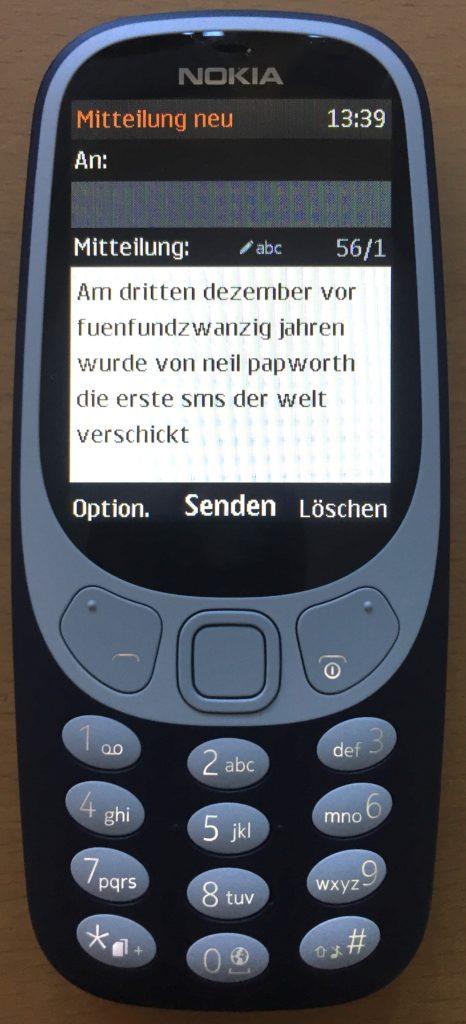 erste SMS vor 25 Jahren
